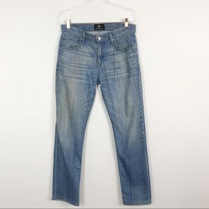 7FAMK Luxe Performance The Straight Jeans Size 31